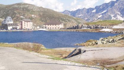 Blick auf das Gotthard-Hospiz
