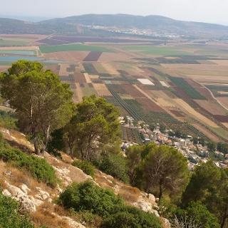 Ausblick vom Mount Tabor nach Galiläa