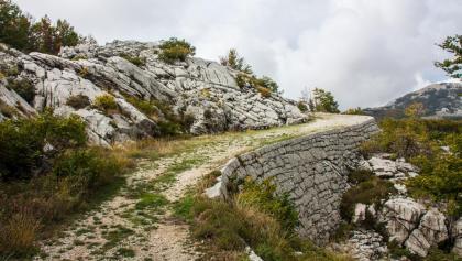 Über die Karstfläche auf befestigtem Weg