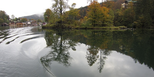 Blick zurück auf den Ort Königssee