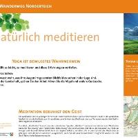 VitalWanderWelt Wanderweg Norderteich - Natürlich meditieren