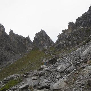 Blick auf Seescharte 2580 m