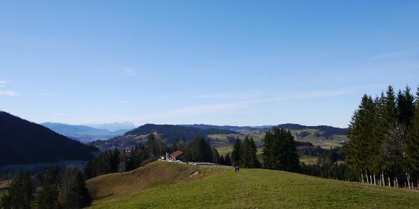 Blick zurück zur Alpe Mohr