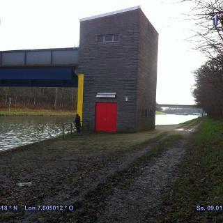 Sperrwerk Dortmund-Ems-Kanal zu Mittelland-Kanal liegt etwas Abseits der Route
