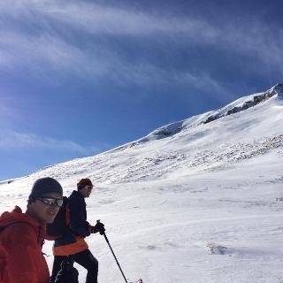 Am Plateau (ca. 2200m) Blick Richtung Gipferl