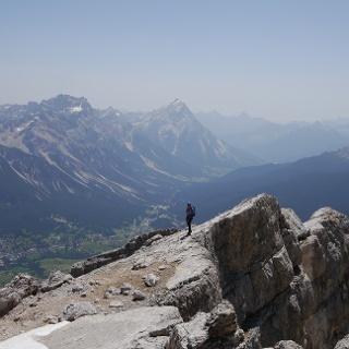 Kurz vor dem Gipfel Tofana di Mezzo