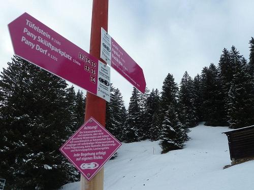 Rundtour Panyer Maiensässe (markierter Trail Nr. 12)