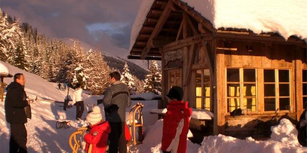 Pertinger Hut in winter