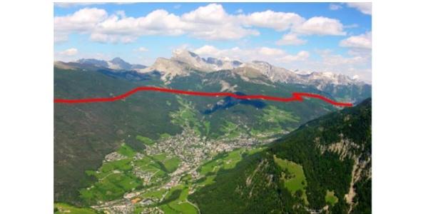 Il sentiero collegava la valle Isarco con il Friuli