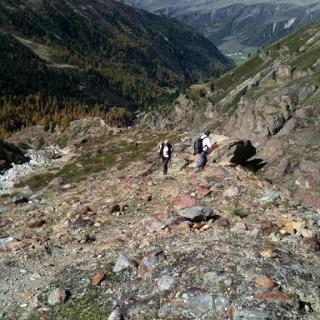 on the glacier trail
