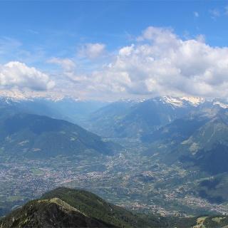 Vista su Merano e dintorni dal Monte Ivigna