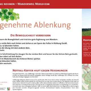 VitalWanderWelt Wanderweg Merlsheim - Angenehme Ablenkung