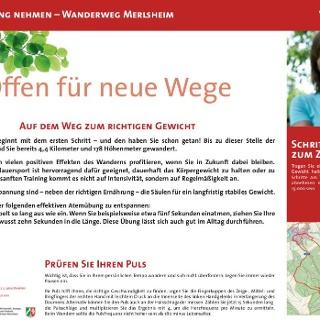VitalWanderWelt Wanderweg Merlsheim - Offen für neue Wege