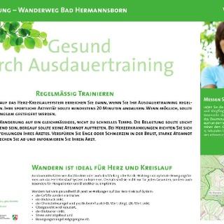 VitalWanderWelt Wanderweg Bad Hermannsborn - Gesund durch Ausdauertraining