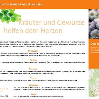 VitalWanderWelt Wanderweg Alhausen - Kräuter und Gewürze helfen dem Herzen