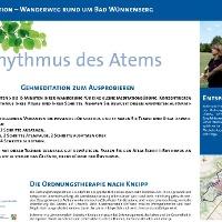 VitalWanderWelt Wanderweg rund um Bad Wünnenberg - Rhythmus des Atmens