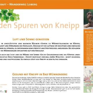 VitalWanderWelt Wanderweg Leiberg - Auf den Spuren von Kneipp