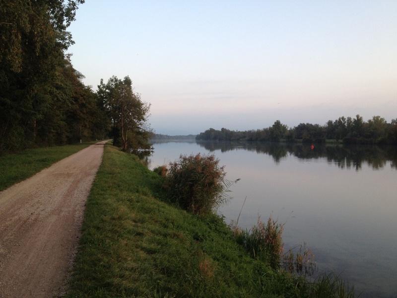 Radtour nach Bad Bellingen an den Rhein über Neuenburg von Badenweiler aus