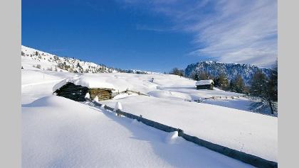 Winterlandschaft in Südtirols Süden