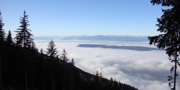 Blick vom Singerberg Richtung Villach