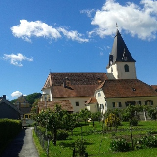 Blick auf Gamlitzer Kirche