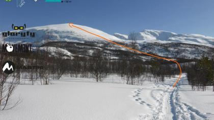 Storhaugen - mit eingezeichneter Route (Topo)