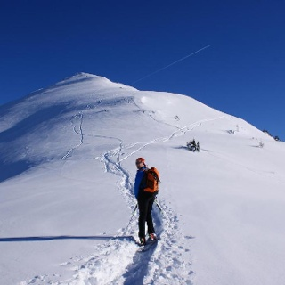 On the ski tour to Krahbergzinken