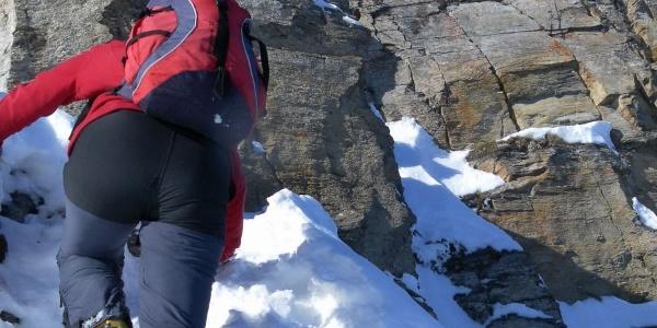 der Ansatz des Gipfelfelses