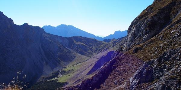 Aufstieg zum Söllerpass - Blick ins hintere Puittal
