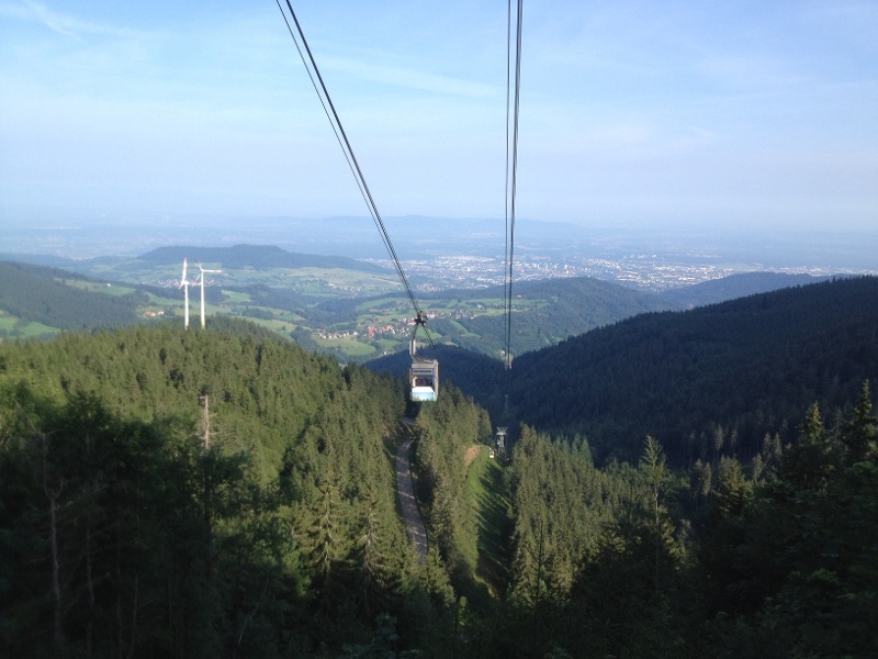 Der Schauinsland von Freiburg aus