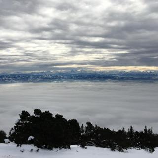 Gipfelpanorama nach Süden.