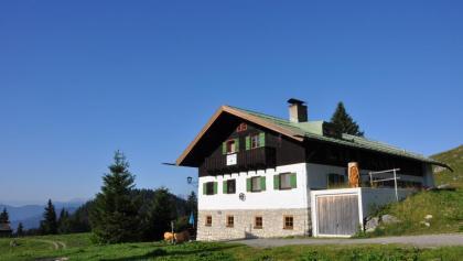 Startpunkt am Tag 2: Die Schönfeldhütte
