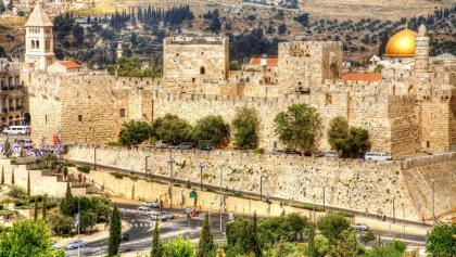 מבט על הר הבית וחומות העיר העתיקה