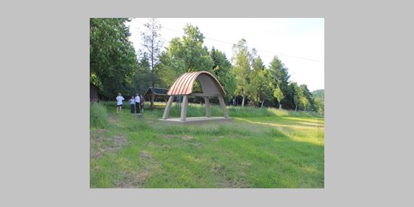 So wird er einmal aussehen, der noch zu errichtende Glockenstuhl auf dem ersten deutschen Glockenwanderweg