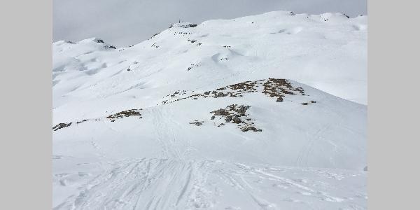 Der Gipfelhang.