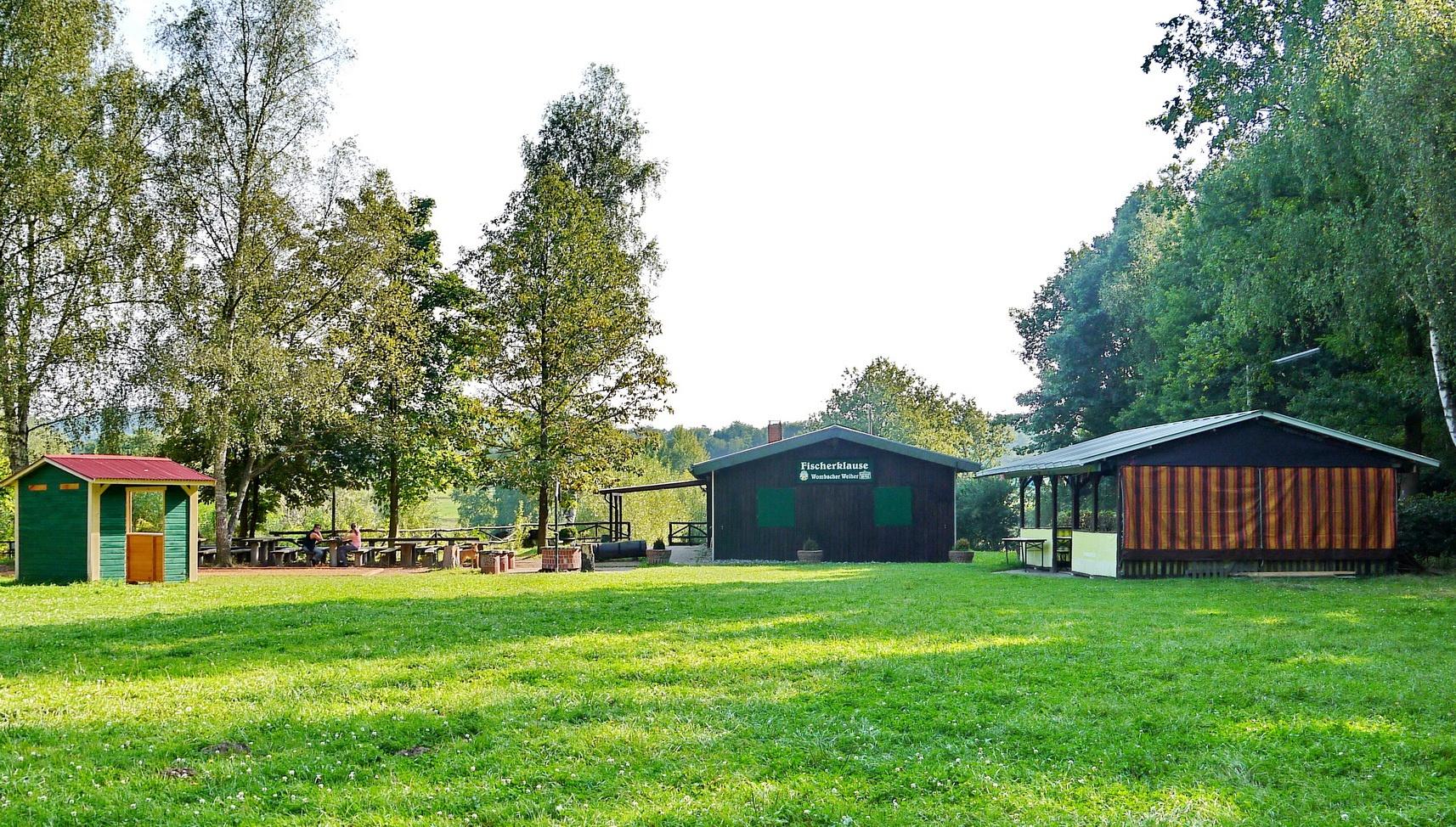 Hütte des Wombacher Weihers