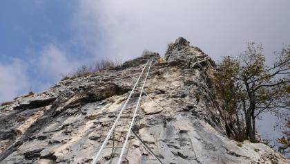 Leiter an der Via Ferrata di Zucco di Sileggio