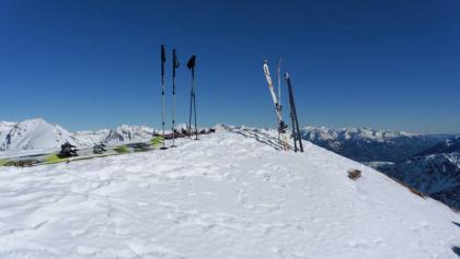 Skilager am Gipfel