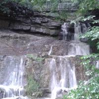 Mit 5 Metern der größte Wasserfall des Wiehengebirges
