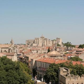 Der Papstpalast in Avignion