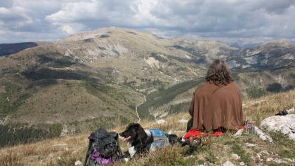 """Ausblick von der """"Crete de Geruen"""" zum """"Les Monges"""""""