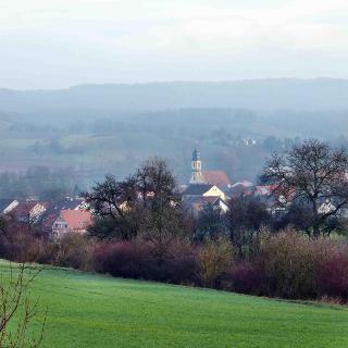 Blick vom Reichelsberg auf Michelau