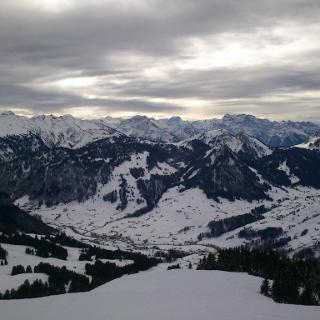 Blick nach Südwesten (Aufstiegsroute)