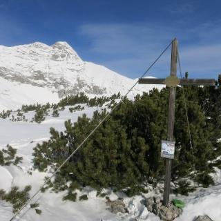 Am Gipfel des Eisernen Bergl mit Blick aufs Warscheneck
