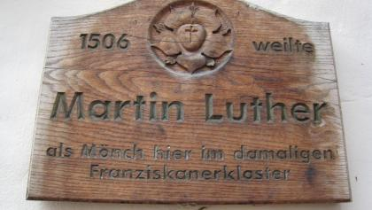 Gedenktafel am ehem. Franziskanerkloster - Arnstadt