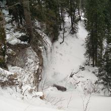Ein kleiner Wasserfall