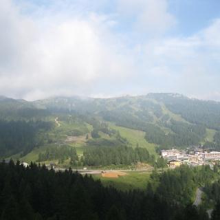 Blick vom Alpengasthof Plattner auf Nassfeld