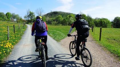 Fahrradfahrer am Geisingberg