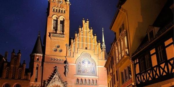 Brüderkirche bei Nacht - Altenburg