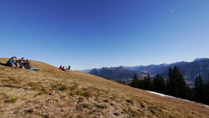Verweilen am Gipfel des Wertacher Hörnle
